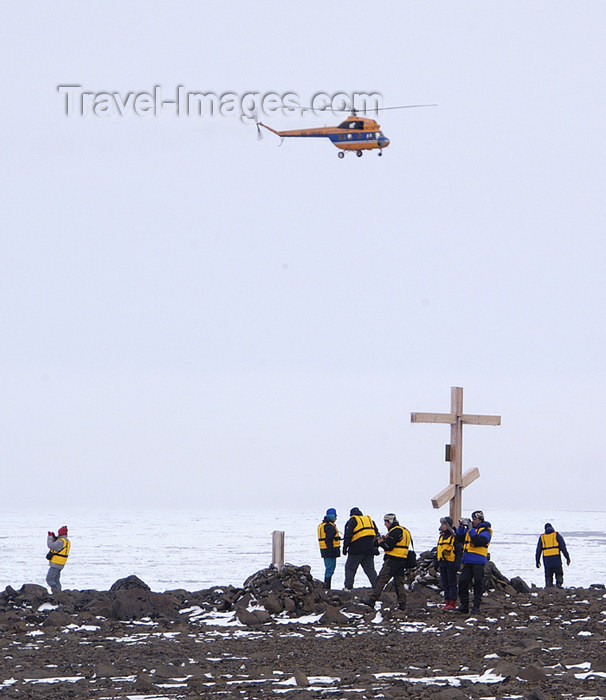 franz-josef52: Franz Josef Land Passengers at northern most point, Cape Figely, Rudolf Is - Arkhangelsk Oblast, Northwestern Federal District, Russia - photo by Bill Cain - (c) Travel-Images.com - Stock Photography agency - Image Bank