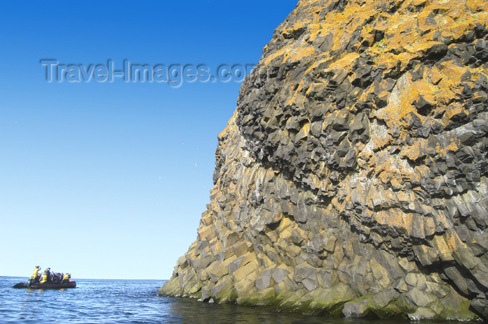 franz-josef71: Franz Josef Land Rubini Rock with zodiac - Arkhangelsk Oblast, Northwestern Federal District, Russia - photo by Bill Cain - (c) Travel-Images.com - Stock Photography agency - Image Bank