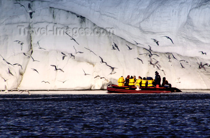 franz-josef94: Franz Josef Land Zodiac with passengers, iceberg, sea birds - Arkhangelsk Oblast, Northwestern Federal District, Russia - photo by Bill Cain - (c) Travel-Images.com - Stock Photography agency - Image Bank