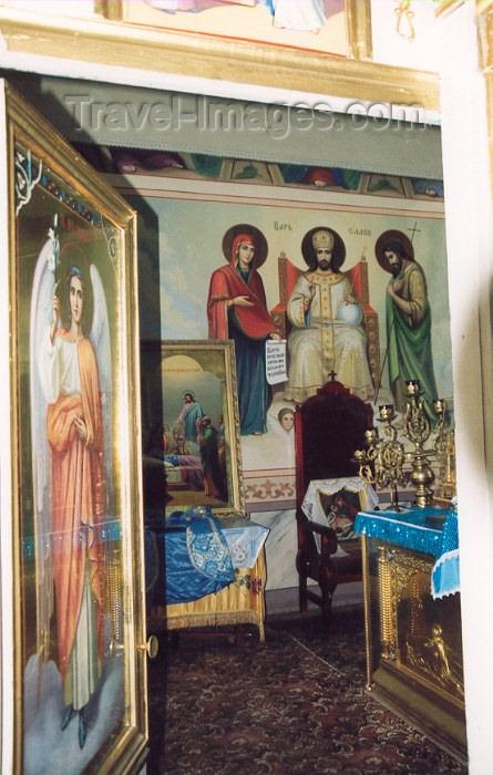 gagauzia9: Comrat / Komrat, Gagauzia, Moldova: Church of St John - behind the iconostasis - religious art - photo by M.Torres - (c) Travel-Images.com - Stock Photography agency - Image Bank