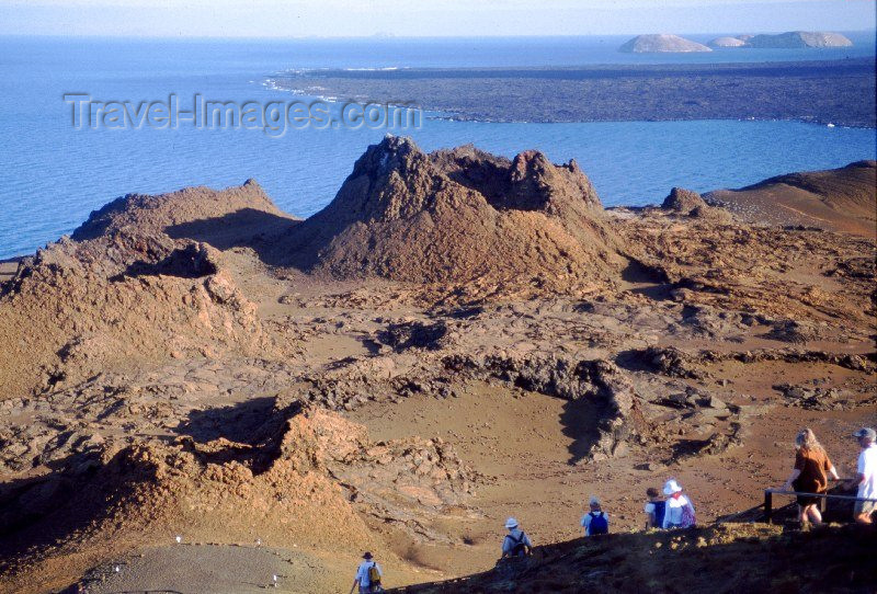 galapagos5: Galapagos Islands: crater on Bartholome island - isla Santiago - Unesco world heritage site - photo by R.Eime - (c) Travel-Images.com - Stock Photography agency - Image Bank