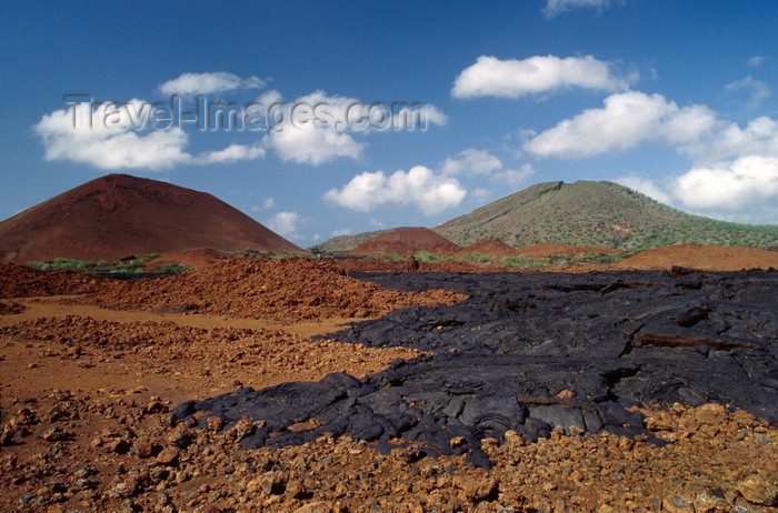 galapagos66: Bartolomé Island, Galapagos Islands, Ecuador: lava field - black lava over older red lava - photo by C.Lovell - (c) Travel-Images.com - Stock Photography agency - Image Bank