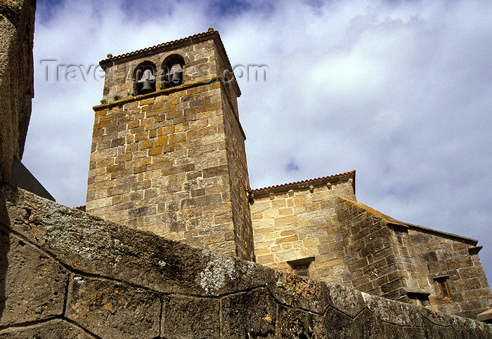 galicia51: Galicia / Galiza - Laxe - A Coruña province: the church of Santa María da Atalaia - fishing village along the Costa da Morte - Comarca de Bergantiños - photo by S.Dona' - (c) Travel-Images.com - Stock Photography agency - Image Bank