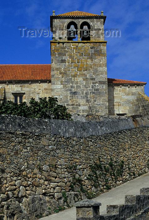 galicia56: Galicia / Galiza - Laxe - A Coruña province: belfry - church of Santa María da Atalaia - photo by S.Dona' - (c) Travel-Images.com - Stock Photography agency - Image Bank