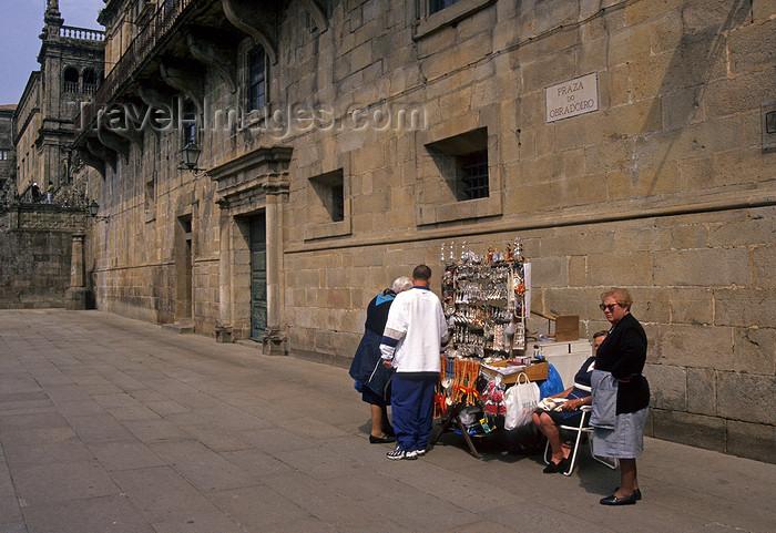 galicia74: Galicia / Galiza - Santiago de Compostela - A Coruña province: religious souvenirs for sale in Praza do Obradoiro - photo by S.Dona' - (c) Travel-Images.com - Stock Photography agency - Image Bank