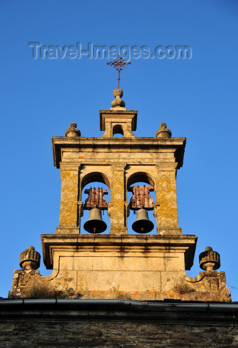 galicia80: Lugo, Galicia / Galiza, Spain: bells of the San Pedro church, formerly part of the Convento de San Francisco - Praza da Soidade - photo by M.Torres - (c) Travel-Images.com - Stock Photography agency - Image Bank
