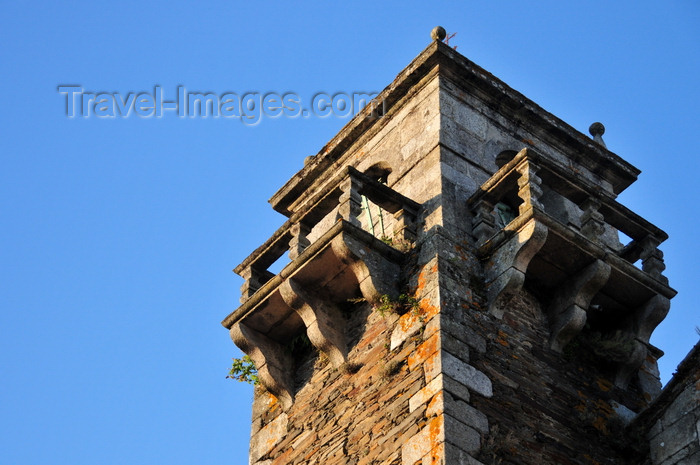 galicia81: Lugo, Galicia / Galiza, Spain: tower of the San Pedro church - Praza da Soidade - Gothic style - photo by M.Torres - (c) Travel-Images.com - Stock Photography agency - Image Bank