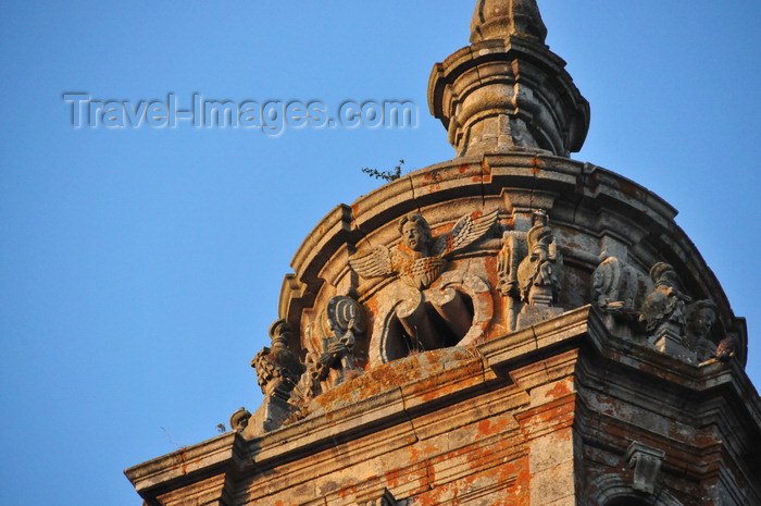 galicia84: Lugo, Galicia / Galiza, Spain: Cathedral of St. Mary - decorations by Gaspar de Arce on the top of a bell tower - photo by M.Torres - (c) Travel-Images.com - Stock Photography agency - Image Bank