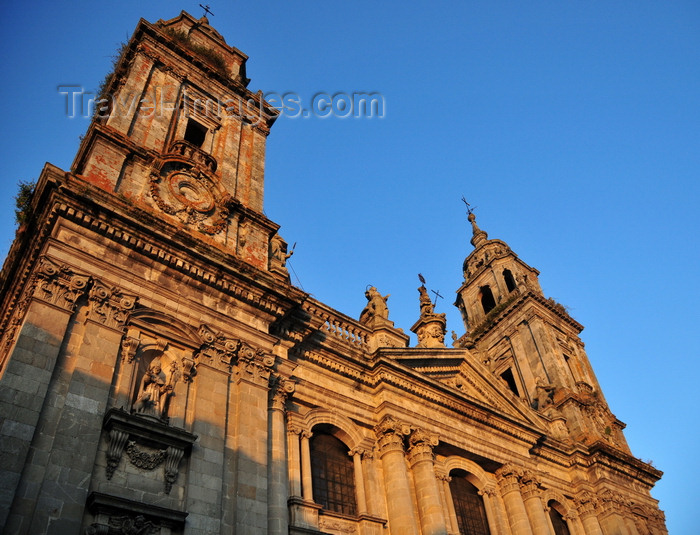 galicia86: Lugo, Galicia / Galiza, Spain: Cathedral of St Mary - neo-classical façade by Lemaur and Sáncez Bort - photo by M.Torres - (c) Travel-Images.com - Stock Photography agency - Image Bank