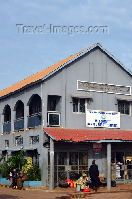 gambia17: Banjul, The Gambia: ferry terminal main building - passengers wait for the next boat to Barra, the gateway to Senegal - photo by M.Torres - (c) Travel-Images.com - Stock Photography agency - Image Bank