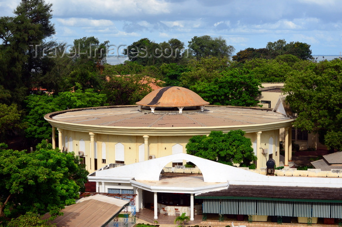 gambia43: Banjul, The Gambia: circular building of the old Gambian Partliament / National Assembly - photo by M.Torres - (c) Travel-Images.com - Stock Photography agency - Image Bank