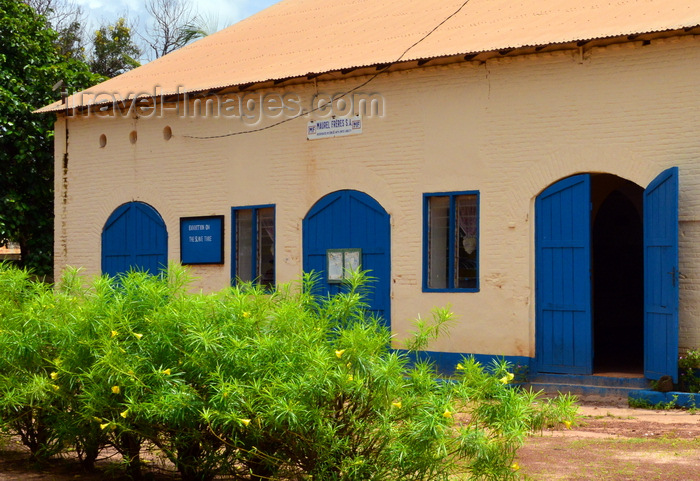 gambia84: Albreda, Gambia: façade of the Museum of Slavery, housed in a British colonial period warehouse, formerly owned by the Maurel Frères of the Lebanese Diaspora -  UNESCO World Heritage Site - photo by M.Torres - (c) Travel-Images.com - Stock Photography agency - Image Bank