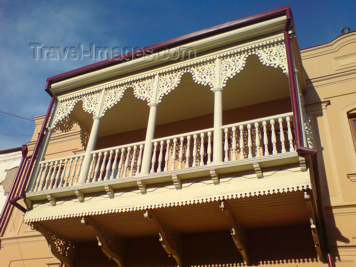 georgia108: Georgia - Tbilisi: decorated balcony - photo by N.Mahmudova - (c) Travel-Images.com - Stock Photography agency - Image Bank