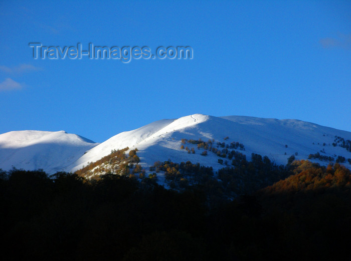 georgia154: Borjomi-Kharagauli National Park, Samtskhe-Javakheti region, Georgia: snow on the Trialeti Range - Lesser Caucasus Mountains - photo by N.Mahmudova - (c) Travel-Images.com - Stock Photography agency - Image Bank