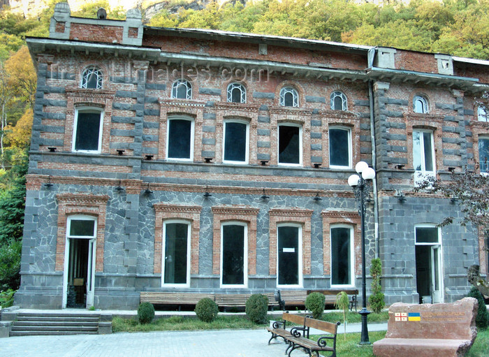 georgia156: Borjomi-Kharagauli National Park, Samtskhe-Javakheti region, Georgia: main building - photo by N.Mahmudova - (c) Travel-Images.com - Stock Photography agency - Image Bank