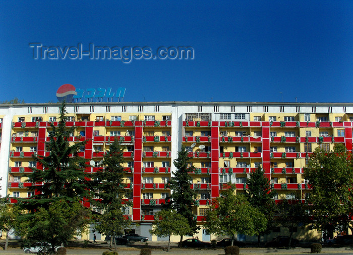 georgia167: Tbilisi, Georgia: apartment block - residential estate - photo by N.Mahmudova - (c) Travel-Images.com - Stock Photography agency - Image Bank
