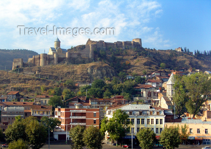 georgia172: Tbilisi, Georgia: Narikala fortress and its hill - photo by N.Mahmudova - (c) Travel-Images.com - Stock Photography agency - Image Bank