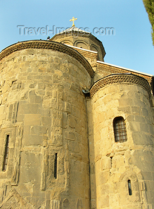 georgia187: Tbilisi, Georgia: Metekhi Cathedral - apses - photo by N.Mahmudova - (c) Travel-Images.com - Stock Photography agency - Image Bank