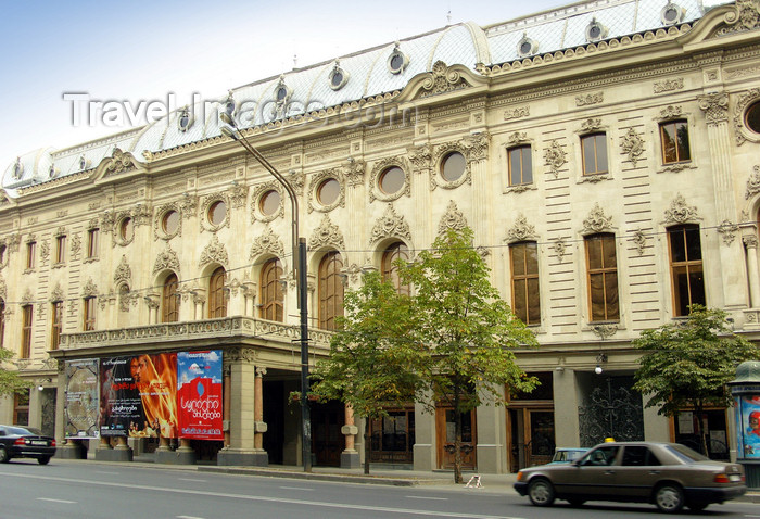 georgia188: Tbilisi, Georgia: Rustaveli Theater - Rustavelis Gamziri - photo by N.Mahmudova - (c) Travel-Images.com - Stock Photography agency - Image Bank