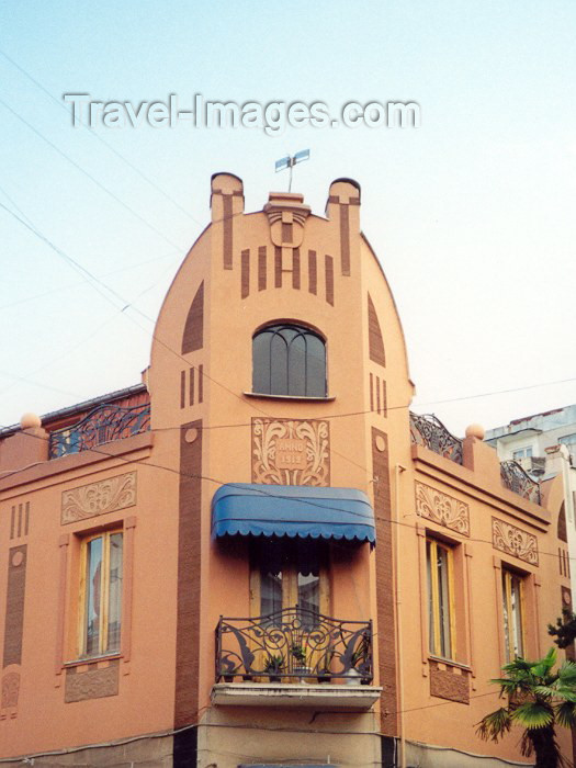 georgia30: Georgia - Batumi (Ajaria): art deco façade (photo by M.Torres) - (c) Travel-Images.com - Stock Photography agency - Image Bank