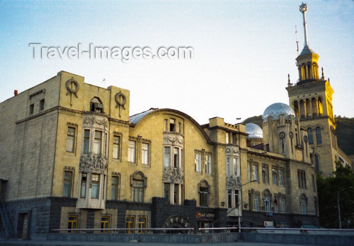 georgia47: Georgia - Tbilisi: Art nouveau Melik-Azaryantz' house by the Academy of Sciences - Rustaveli ave. - photo by M.Torres - (c) Travel-Images.com - Stock Photography agency - Image Bank