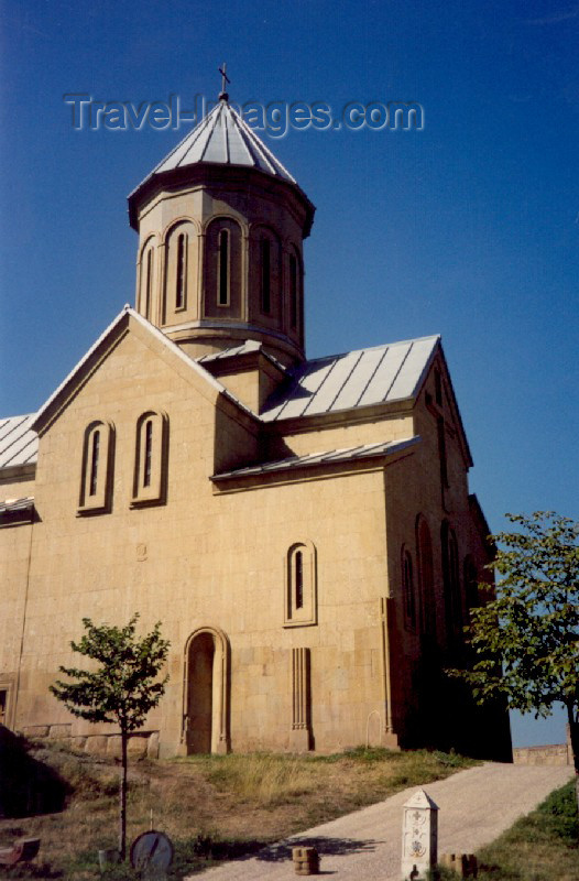 georgia51: Georgia - Tbilisi / Tblissi / TBS: St. Nicholas Church at Narikala fortress (photo by M.Torres) - (c) Travel-Images.com - Stock Photography agency - Image Bank