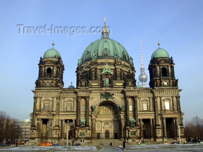 germany102: Berlin, Germany / Deutschland: the Cathedral - Unter den Linden / Schlossplatz - Berliner Dom - photo by M.Bergsma - (c) Travel-Images.com - Stock Photography agency - Image Bank
