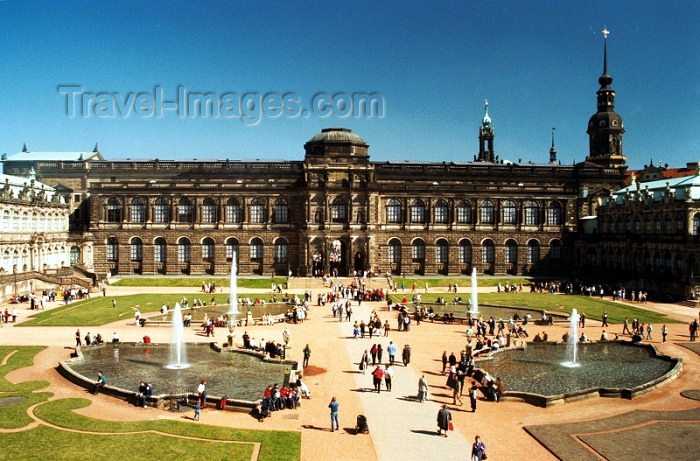 germany108: Germany / Deutschland -  Dresden (Saxony / Sachsen): Dresden: Zwinger Palace - gardens - Unesco world heritage site (photo by J.Kaman) - (c) Travel-Images.com - Stock Photography agency - Image Bank