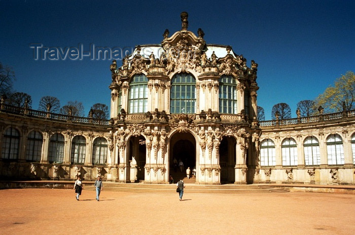 germany109: Germany / Deutschland -  Dresden (Saxony / Sachsen): Zwinger Palace (photo by J.Kaman) - (c) Travel-Images.com - Stock Photography agency - Image Bank