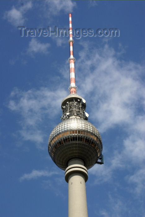 germany113: Berlin, Germany / Deutschland: the Television tower - Funkturm - first drafted by Hermann Henselmann - photo by C.Blam - (c) Travel-Images.com - Stock Photography agency - Image Bank