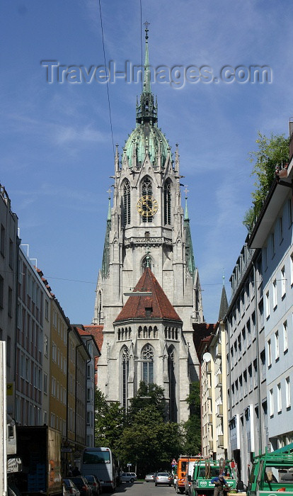 germany120: Germany - Bavaria - Munich: gothic - St. Paul's Church (photo by C.Blam) - (c) Travel-Images.com - Stock Photography agency - Image Bank