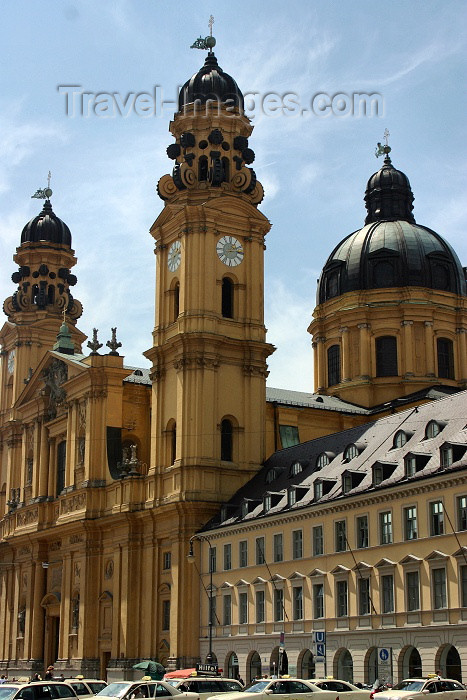 germany124: Germany - Bavaria - Munich: pastel - Theatiner church -  Italian baroque / Theatinerkirche (photo by C.Blam) - (c) Travel-Images.com - Stock Photography agency - Image Bank