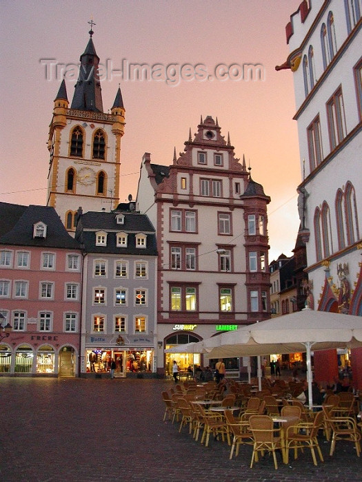 germany133: Germany / Deutschland - Trier: main square at sunset - Hauptmarkt im Zentrum - photo by P.Willis - (c) Travel-Images.com - Stock Photography agency - Image Bank