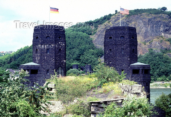 germany136: Germany / Deutschland - Remagen: the Ludendorff Bridge over the Rhine - 'the Bridge at Remagen' - photo by R.Eime - (c) Travel-Images.com - Stock Photography agency - Image Bank