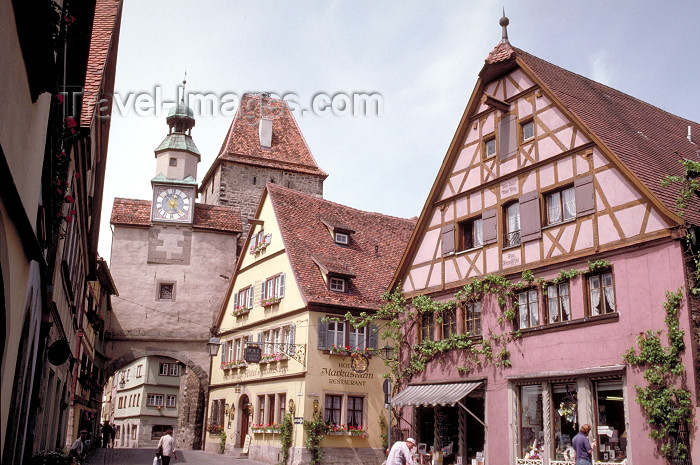germany139: Germany - Bavaria - Rothenburg ob der Tauber - Mittelfranken / Middle Franconia: façades in the centre - photo by R.Eime - (c) Travel-Images.com - Stock Photography agency - Image Bank