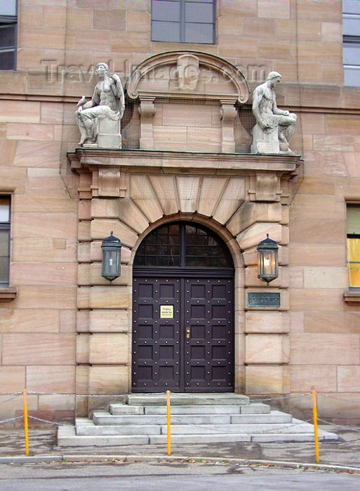 germany151: Germany - Bavaria - Nuremberg / Nürnberg -  Middle Franconia: Nuremberg court, famous for the WWII Nuremberg Trials - war crimes trial - photo G.Frysinger - (c) Travel-Images.com - Stock Photography agency - Image Bank