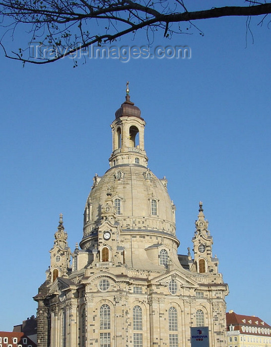 germany153: Germany / Deutschland -  Dresden (Saxony / Sachsen): dome of the Frauenkirche - Church of our Lady - Lutheran church - Steinerne Glocke - architect George Bähr (photo by G.Frysinger) - (c) Travel-Images.com - Stock Photography agency - Image Bank
