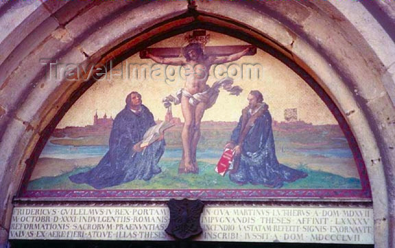 germany165: Germany / Deutschland - Saxony-Anhalt / Sachsen-Anhalt - Wittenberg: Martin Luther at the cross - Castle Church - photo by G.Frysinger - (c) Travel-Images.com - Stock Photography agency - Image Bank