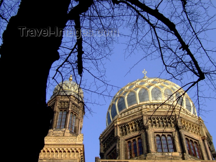 germany181: Berlin, Germany / Deutschland: New Synagogue - Moorish style dome - Neue Synagoge Berlin - Centrum Judaicum - Oranienburger Strasse - architect Eduard Knoblauch - photo by M.Bergsma - (c) Travel-Images.com - Stock Photography agency - Image Bank