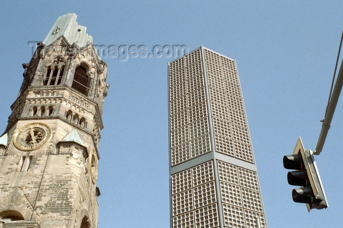 germany189: Germany / Deutschland - Berlin: Kaiser Wilhelm Memorial Church - Gedächtniskirche - photo by M.Bergsma - (c) Travel-Images.com - Stock Photography agency - Image Bank