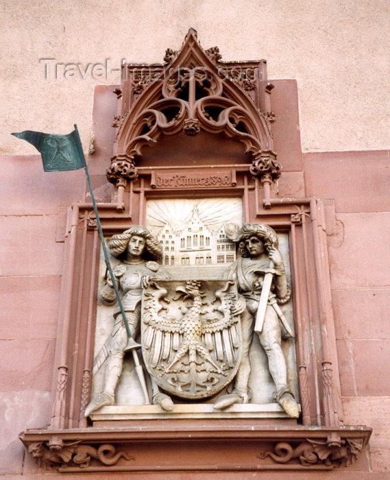 germany196: Germany / Deutschland - Frankfurt am Main (Hessen): Römerberg - heraldic - Der Römer - photo by M.Torres - (c) Travel-Images.com - Stock Photography agency - Image Bank