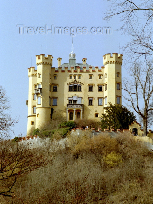 germany203: Germany - Bavaria -  Schwangau - Füssen, Swabia: castle Hohenschwangau - childhood residence of King Ludwig II of Bavaria - built by his father, King Maximilian II / Schloss Hohenschwangau (photo by T.Marshall) - (c) Travel-Images.com - Stock Photography agency - Image Bank