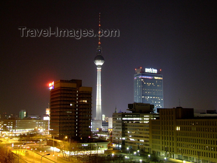 germany240: Germany / Deutschland - Berlin / Berlino / Berlim: Alexanderplatz at night - photo by M.Bergsma - (c) Travel-Images.com - Stock Photography agency - Image Bank