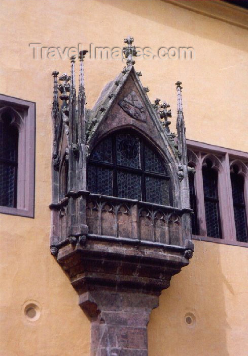 germany26: Germany - Bavaria - Regensburg (Castra Regina): Late-Gothic veranda at the Old city hall (Altes Rathaus) - oriel window - photo by M.Torres - (c) Travel-Images.com - Stock Photography agency - Image Bank