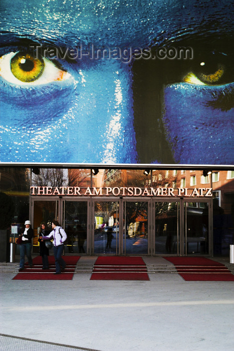 germany269: Germany - Berlin: Potsdamer Place Theater - blue men / Theater am Potsdamer Platz - photo by W.Schmidt - (c) Travel-Images.com - Stock Photography agency - Image Bank