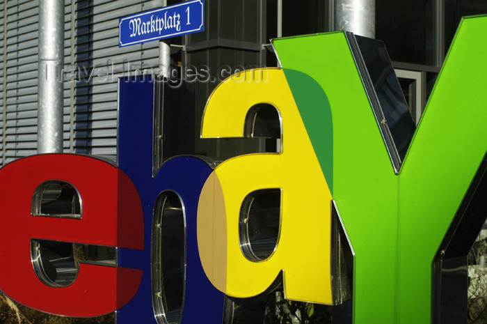 germany271: Germany - Berlin: German Ebay headquarters building - Ebay logo on Markplazt - online auctions company - photo by W.Schmidt - (c) Travel-Images.com - Stock Photography agency - Image Bank