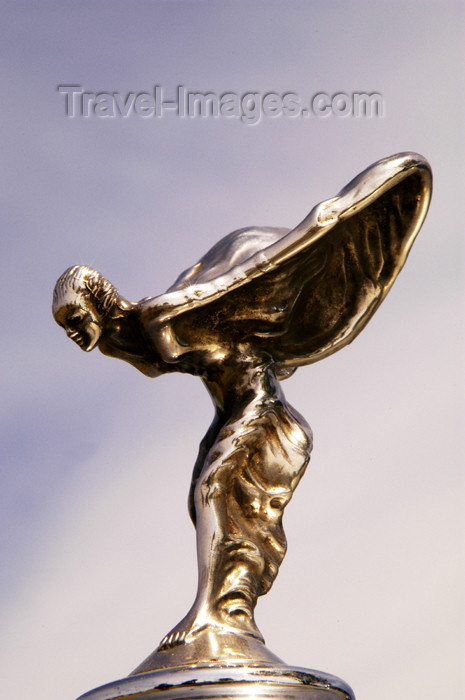 germany275: Germany - Berlin: Hood ornament - Spirit of Ecstasy - Emily - on the hood of a Rolls-Royce / Kühlerfigur - Luxusauto, Nobelkarosse - photo by W.Schmidt - (c) Travel-Images.com - Stock Photography agency - Image Bank