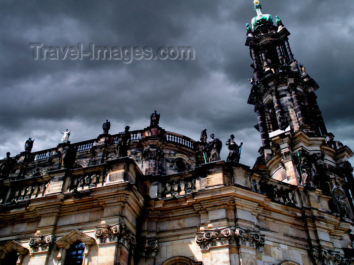 germany288: Dresden, Saxony / Sachsen, Germany / Deutschland: Hofkirche Roman Catholic Cathedral - bell tower - Altstadt - photo by E.Keren - (c) Travel-Images.com - Stock Photography agency - Image Bank