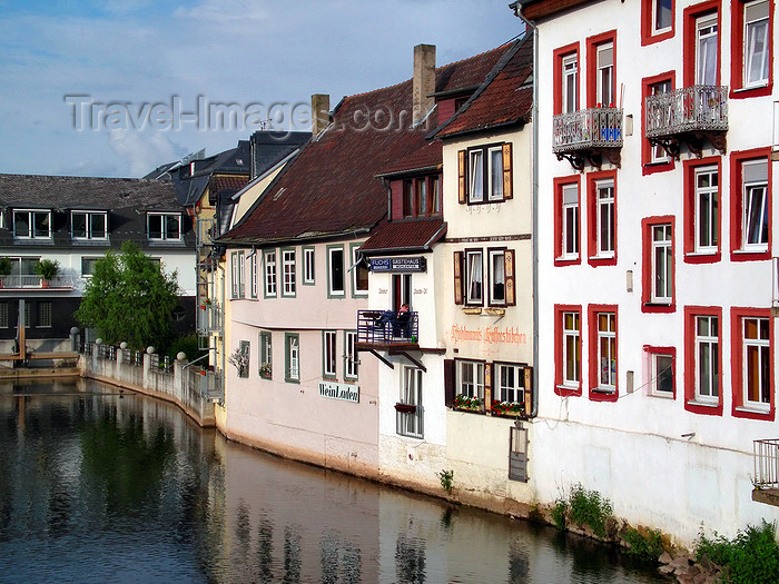 germany294: Bad Kreuznach - Rhineland-Palatinate / Rheinland-Pfalz, Germany / Deutschland: canal view - photo by Efi Keren - (c) Travel-Images.com - Stock Photography agency - Image Bank