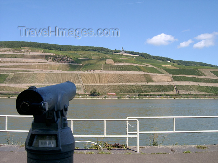 germany300: Germany / Deutschland / Allemagne - Rhineland-Palatinate / Rheinland-Pfalz: view on the river Rhine - telescope - photo by Efi KerenKeren - (c) Travel-Images.com - Stock Photography agency - Image Bank
